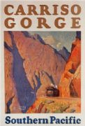 Vintage Travel Poster Carriso Gorge